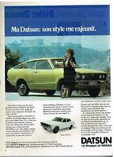 Publicité Advertising 1978 datsun 120A F-11