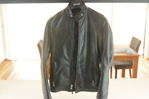 Schott-NYC-654-XS-Cowhide-Casual-Racer-Leather-Jacket-Made-in-USA-XS