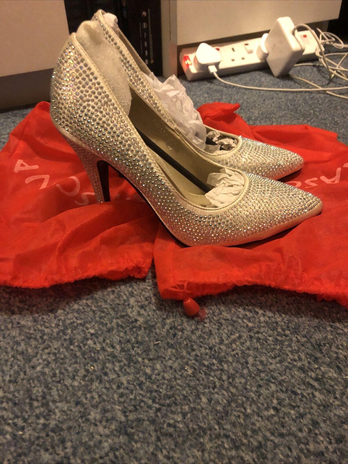 Ivory Diamonte Shoes - Prom/Bridesmaid/Wedding Shoes