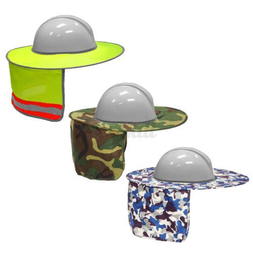 Hard Hat Helmet Full Brim Sun Shield Shade Head Neck Nape Sunscreen Polyester