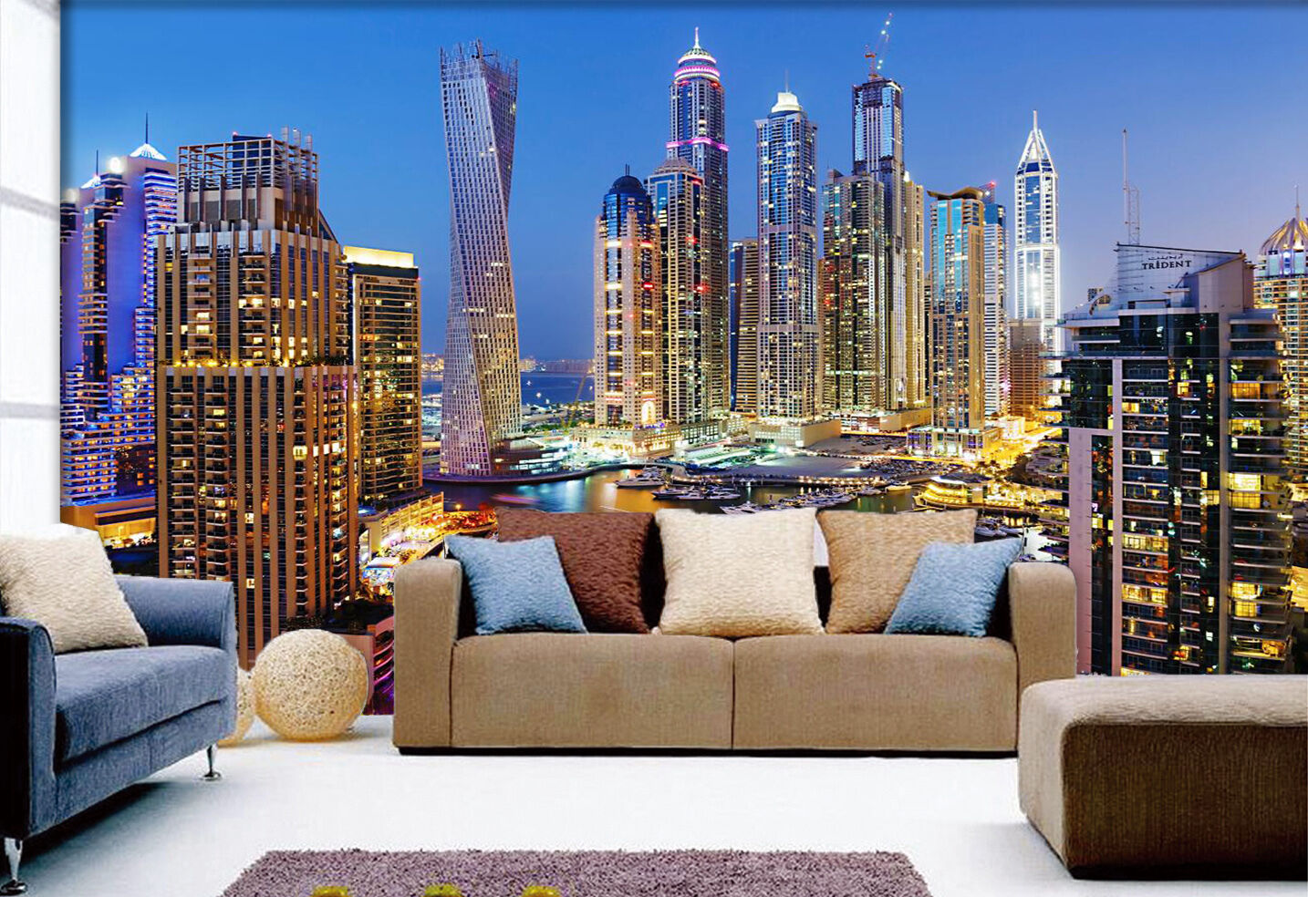 3D City Night View 56 Wall Paper Wall Print Decal Wall Deco Indoor Wall Murals