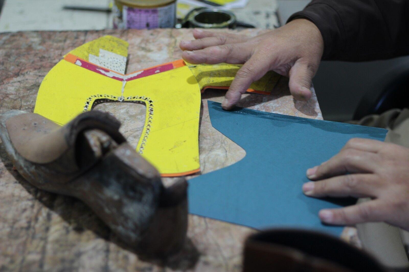 Uomo Uomo Uomo Bespoke Handmade Genuine Marrone Shaded Leather Oxford Brogue Wingtip scarpe ccee60