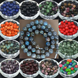 Wholesale-Lot-Natural-Stone-Gemstone-Round-Spacer-Loose-Beads-4MM-6MM-8MM-10MM