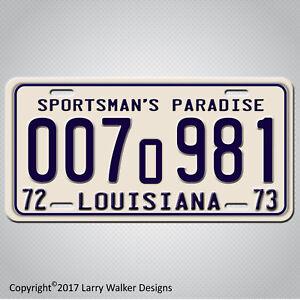 Louisiana-1975-JAWS-Movie-Shark-Autopsy-Prop-Replica-Aluminum-License-Plate-Tag