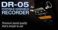 Tascam Dr-05 Portable Handheld Linear Pcm Digital Audio Recorder Recording Vip