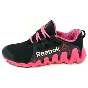 Reebok-Women-039-s-Sz-8-Black-Pink-Zigtech-Big-Quick-Athletic-Running-Shoes-EU-38-5