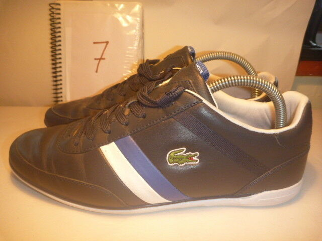 LACOSTE SIZE blueE LEATHER TRAINERS GIRON PRI