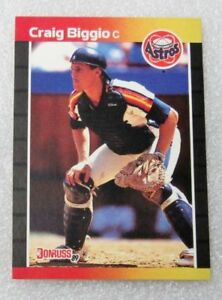 1989-ROOKIE-CARD-HOF-CRAIG-BIGGIO-DONRUSS-BASEBALL-HALL-OF-FAMER-N-M-RC-ASTROS