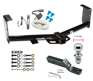 Trailer Tow Hitch For 07-19 Toyota Tundra Complete Package w/ Wiring 1-7/8