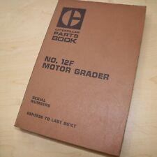 Cat Caterpillar 12f Motor Road Grader Parts Manual Book 89h Series Catalog List