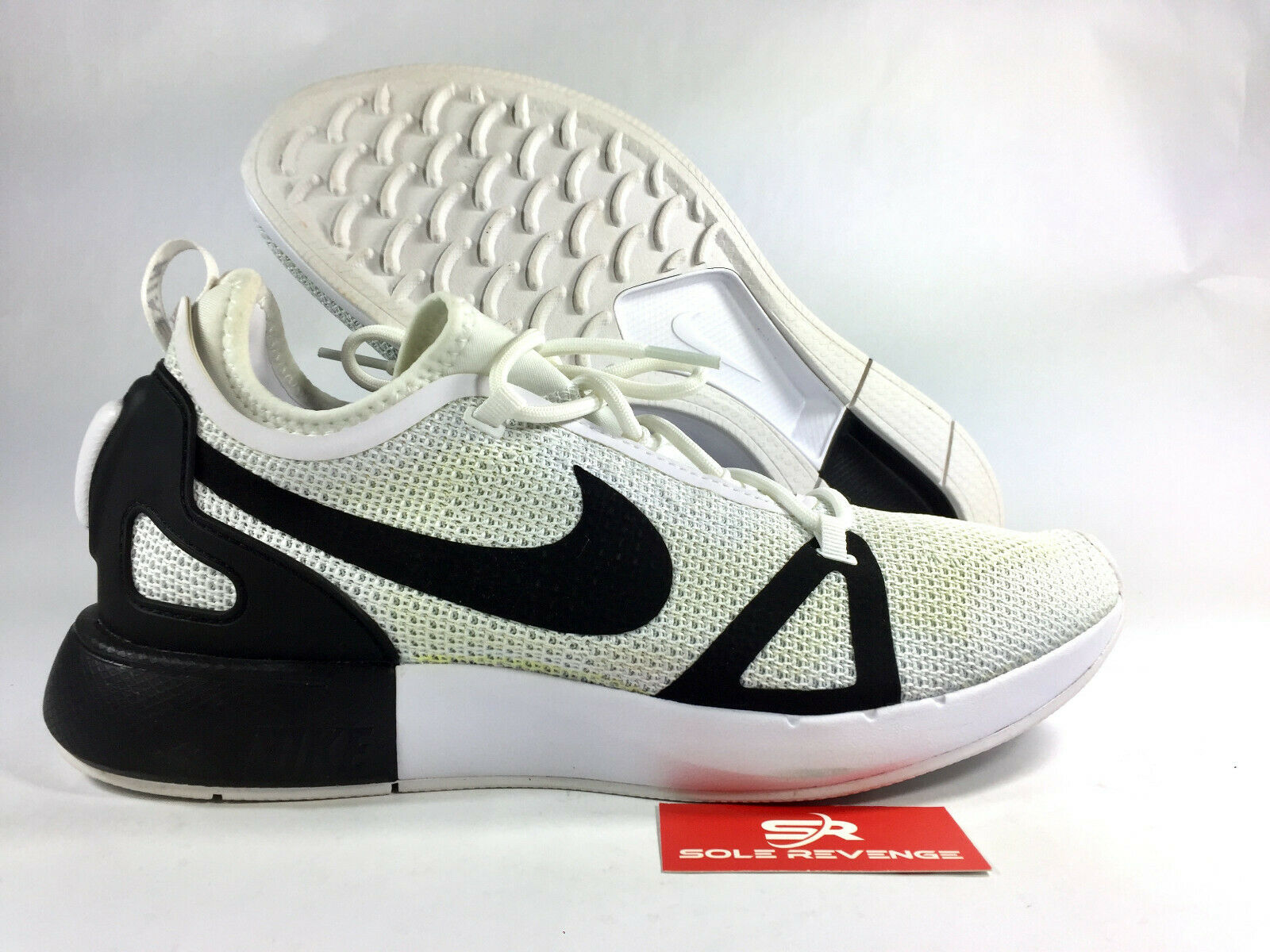 9.5 New YELLOWED Dual Racer White Black Platinum 918228-102 shoes x1