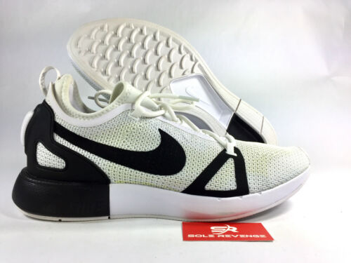 9.5 New YELLOWED Dual Racer White Black Platinum 918228-102 Shoes x1