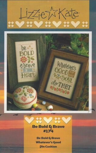 Pin Cushion Cross Stitch Charts Lizzie Kate Be Bold /& Brave /& Whatever/'s Good