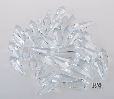 50 Clear Crystal Chandelier Glass Lamp Lighting Part Prisms Drop Pendants 38mm