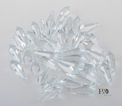 80pcs 38mm Clear Crystal Chandelier Prisms Glass Lamp Lighting Drops Pendants