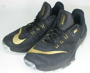 Details about Nike Air Max Infuriate II BlackMetallic Gold Anthracite 943810 005 GS SZ 5.5Y