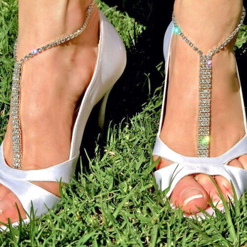Pieds nus sandales de plage mariage strass Bracelet Chaîne Pied Bijoux ces