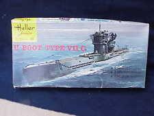 Vintage Never built U Boot Boat Type VII C by Heller Junior Kit 1/400 MadeFrance