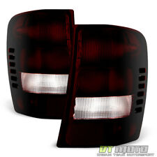 1999-2004 Jeep Grand Cherokee Red Smoke Rear Tail Lights Brake Lamps Left+Right