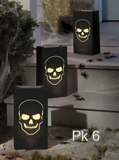 6 Sacchetti Boneyard TESCHIO Capo Halloween Candela Tea Light Sacchetti Decorazioni 70331