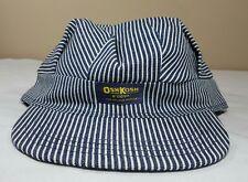 Vtg OshKosh B'Gosh Train Engineer Railroad Cap Hat Made USA New Striped