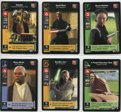 Star Wars TCG CCG Young Jedi Enhanced Darth Maul 6 Card Premium Set P1-P6
