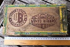 23556 Alte Zigarren Kiste Willi Beutner DRESDEN Santo Amaro CIGARRE Brasil Tabak