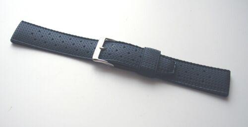 NOSTROPIC XL Blau 20//18 mm od 22//20 mm Kautschukuhrenarmband Legende 60er Jahre