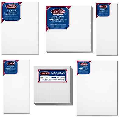 ARTIST BLANK STRETCHED & ACRYLIC PRIMED BOX FRAMED 100% COTTON LOXLEY ART CANVAS