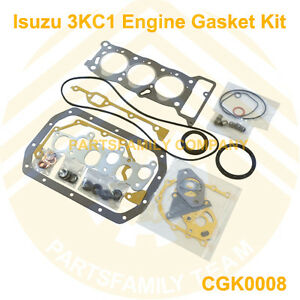 genuine new engine gasket kit for isuzu 3kc1 mini excavator and image is loading genuine new engine gasket kit for isuzu 3kc1