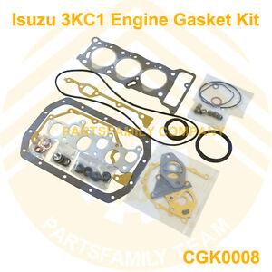 genuine new engine gasket kit for isuzu 3kc1 mini excavator and image is loading genuine new engine gasket kit for isuzu 3kc1