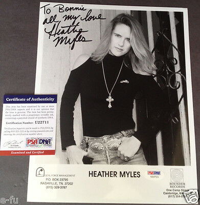 Entertainment Memorabilia Dutiful Heather Myles Signed Photo Inscription Bonnie Owens Psa/dna Certified Autograph High Quality And Inexpensive