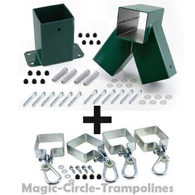 Schaukelverbinder für Anbauschaukel 1 Stück Spielturm-Montage Schaukel grün