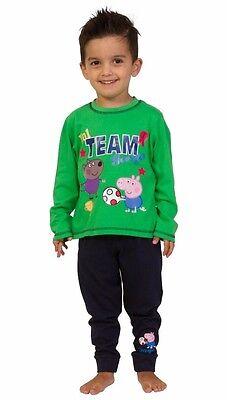 Team George Cochon football pyjama 2 To 5 ans vert Peppa Pig | eBay