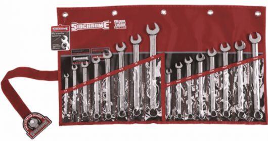 SIDCHROME SCMT22105 16pce RING & OPEN END END END COMBINATION METRIC & A/F SPANNER SET b743e6