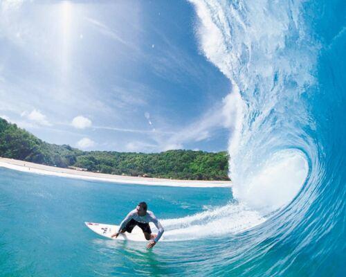 Personalizado Comestible Surf Cake Topper Glaseado O Oblea De Papel