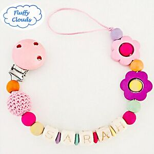 Pacifier Clip Pacifier Holder Soother Dummy Clip Chain Wooden dummy pacifier soother clip