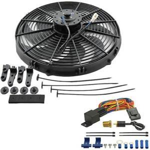 image is loading jeep-wrangler-yj-chevy-v8-electric-radiator-fan-