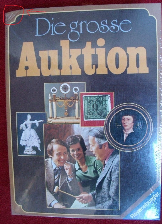 La grande vente aux enchères-vente aux enchères jeu-Ravensburger 1976. NOUVEAU SCELLÉ