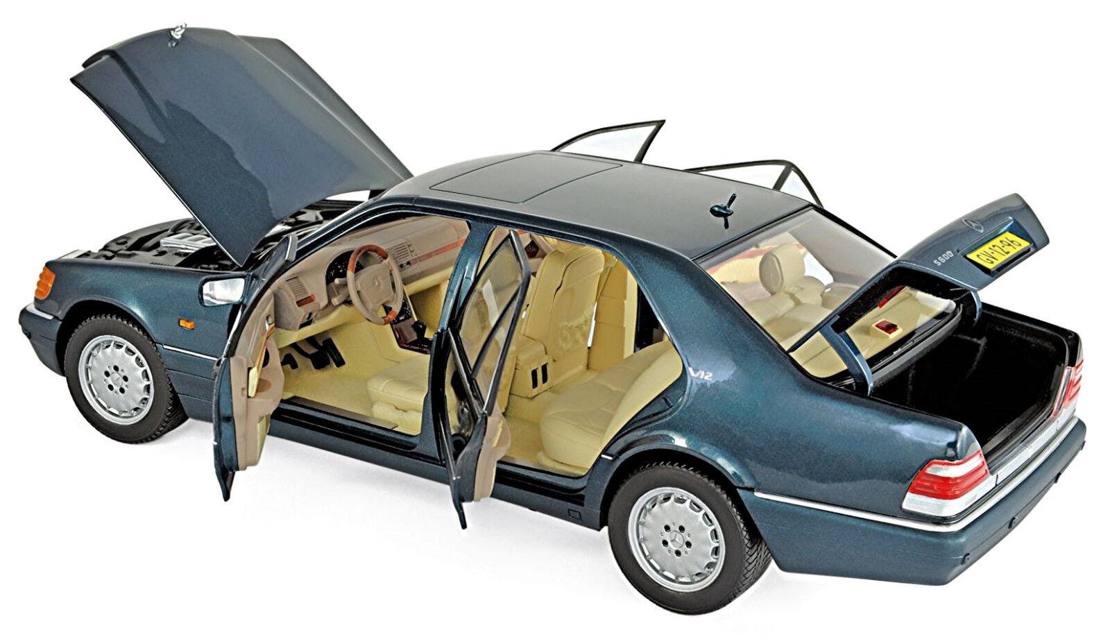 Mercedes - - - Benz Clase s 600 w140 cirugía plástica 1994 - 98 verde verde Met - LICO 2018 1  18 3cf