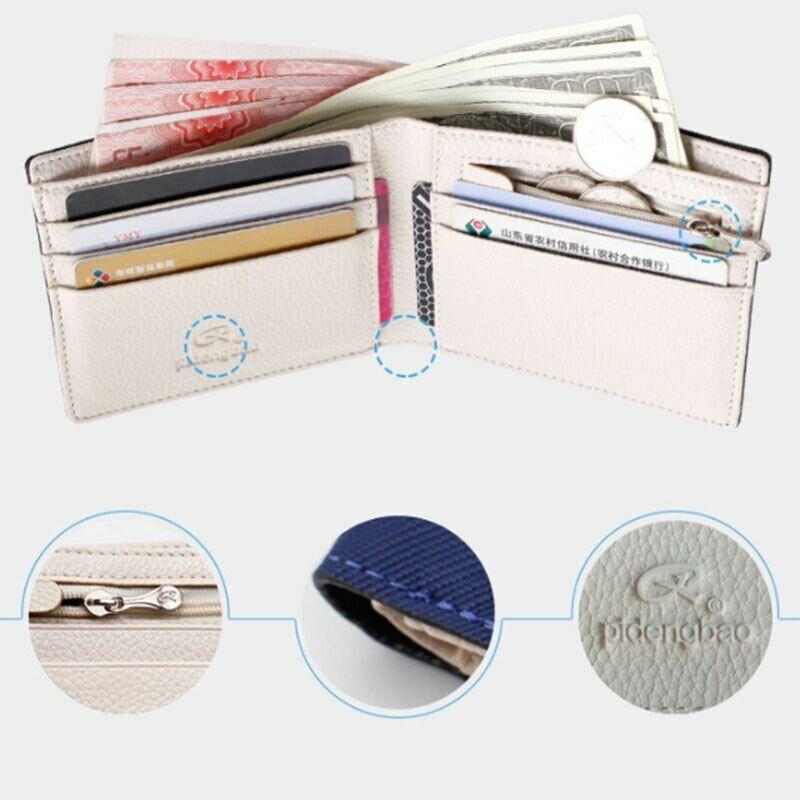 Mode Portefeuilles Hommes Croix motif ouvert carte de crédit Position New Wallet