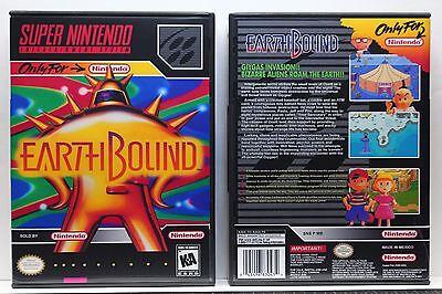 EarthBound - NO GAME - Super Nintendo SNES Custom Case | eBay