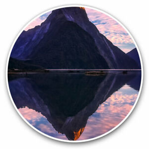 2-x-Vinyl-Stickers-7-5cm-Milford-Sound-New-Zealand-Cool-Gift-3469