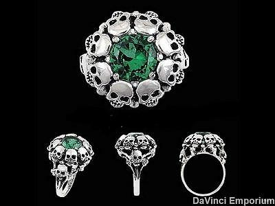 Sterling Silver Bluebeard the Pirate Skull Ring