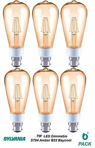 3-x-Dimmable-LED-7W-Vintage-Edison-Amber-Filament-Light-Globes-Bulbs-ST64-B22