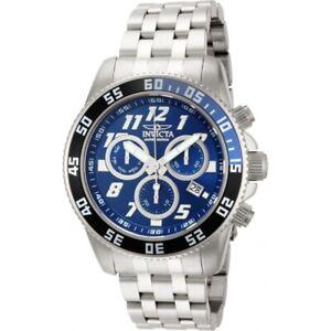 Invicta Cruiseline Pro Diver Men 50mm SS Metallic Bracelet Chronograph Watch