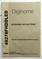 Digihome TV operating instructions 49278FHDDLED user manual guide