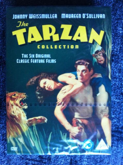 TARZAN COLLECTION - 6 Movies - UK DVD SET Region 2 - Johnny Weissmuller - OOP