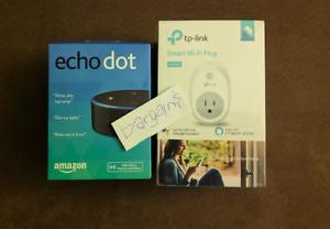 NEW Amazon Echo Dot & Smart Wi-Fi Plug Works With Alexa   Google Assistant