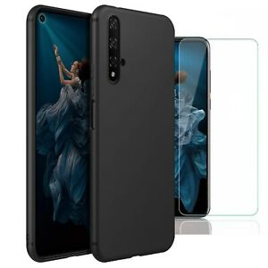 For-Honor-20-Case-Slim-Silicone-Cover-amp-Glass-Screen-Protector